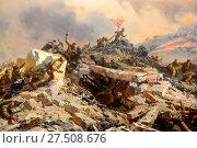 """Купить «Фрагмент диорамы """"Штурм Сапун-горы 7 мая 1944 года"""" в Севастополе», фото № 27508676, снято 11 марта 2015 г. (c) Free Wind / Фотобанк Лори"""