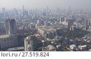 Aerial panorama landscape of Bangkok, Thailand (2018 год). Стоковое видео, видеограф Михаил Коханчиков / Фотобанк Лори