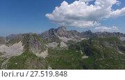 Купить «Aerial of Bobotov Kuk and mountains in Durmitor», видеоролик № 27519848, снято 12 декабря 2017 г. (c) Михаил Коханчиков / Фотобанк Лори
