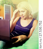 Купить «Crying woman receiving bad news», фото № 27530752, снято 22 октября 2018 г. (c) Яков Филимонов / Фотобанк Лори