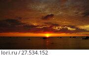 Купить «Tropical sea sunset on the beach, timelapse», видеоролик № 27534152, снято 23 января 2018 г. (c) Михаил Коханчиков / Фотобанк Лори