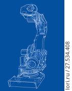 Купить «Industrial robot manipulator. Vector image», иллюстрация № 27534408 (c) Кирилл Черезов / Фотобанк Лори