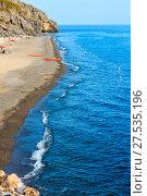 Купить «Tyrrhenian sea beach, Campania, Italy», фото № 27535196, снято 20 июня 2017 г. (c) Юрий Брыкайло / Фотобанк Лори