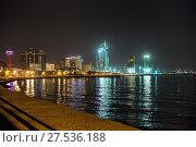 Купить «Night view of the city of Baku - the capital of the Republic of Azerbaijan», фото № 27536188, снято 23 сентября 2015 г. (c) Евгений Ткачёв / Фотобанк Лори
