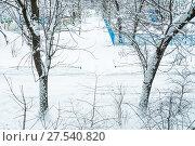 Купить «Последствия сильного снегопада в Москве», фото № 27540820, снято 31 января 2018 г. (c) Алёшина Оксана / Фотобанк Лори