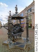 Купить «Kazan, Russia - March 27. 2017. Monument to cat in Bauman Street.», фото № 27545256, снято 27 марта 2017 г. (c) Володина Ольга / Фотобанк Лори
