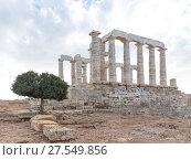 Ancient Temple of Poseidon (2017 год). Стоковое фото, фотограф Ekaterina Andreeva / Фотобанк Лори