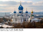 Купить «Москва, вид сверху на Николо-Перервинский монастырь», фото № 27549924, снято 16 января 2018 г. (c) glokaya_kuzdra / Фотобанк Лори