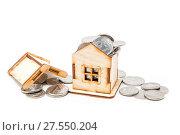 Купить «Дом, наполненный деньгами. Покупка или строительство жилья», фото № 27550204, снято 5 февраля 2018 г. (c) Наталья Осипова / Фотобанк Лори