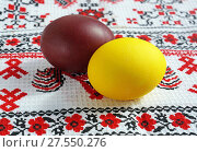 Купить «Easter eggs», фото № 27550276, снято 16 апреля 2017 г. (c) ElenArt / Фотобанк Лори