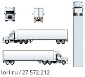 Купить «Vector truck template isolated on white», иллюстрация № 27572212 (c) Александр Володин / Фотобанк Лори