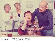Купить «Mature man is apologizing to girlfriend for quarrel», фото № 27572728, снято 16 декабря 2017 г. (c) Яков Филимонов / Фотобанк Лори