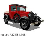 Купить «Vector retro truck», иллюстрация № 27581108 (c) Александр Володин / Фотобанк Лори