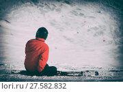 Купить «skier sitting on a downhill», фото № 27582832, снято 23 мая 2019 г. (c) PantherMedia / Фотобанк Лори