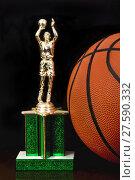 Купить «Basketball Trophy.», фото № 27590332, снято 22 августа 2018 г. (c) PantherMedia / Фотобанк Лори