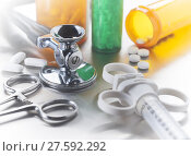 Купить «Medical instruments», фото № 27592292, снято 15 августа 2018 г. (c) PantherMedia / Фотобанк Лори
