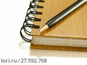 Купить «notebook with pen», фото № 27592768, снято 17 октября 2018 г. (c) PantherMedia / Фотобанк Лори