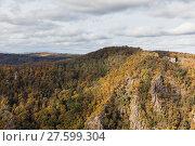 Купить «Bodetal im Herbst Harz», фото № 27599304, снято 23 июля 2019 г. (c) PantherMedia / Фотобанк Лори