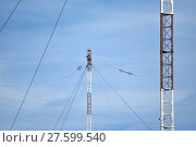 Купить «Aerial platforms for  transmission of radio waves», фото № 27599540, снято 17 августа 2018 г. (c) PantherMedia / Фотобанк Лори