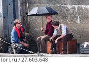 Christopher Nolan directs Mark Rylance, Jack Lowden and Barry Keoghan... (2016 год). Редакционное фото, фотограф WENN.com / age Fotostock / Фотобанк Лори