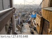 Купить «Sunset over Haebangchon alleyway in seoul», фото № 27610648, снято 17 февраля 2019 г. (c) PantherMedia / Фотобанк Лори