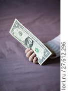 Купить «money in baby hand», фото № 27612296, снято 19 марта 2019 г. (c) PantherMedia / Фотобанк Лори