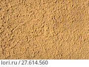 Купить «yellow coarse plaster in the sunlight on a house wall», фото № 27614560, снято 22 июля 2018 г. (c) PantherMedia / Фотобанк Лори