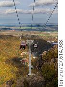 Купить «Bodetal im Herbst HarSeilbahn», фото № 27614988, снято 23 июля 2019 г. (c) PantherMedia / Фотобанк Лори