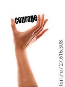 Купить «Smaller courage concept», иллюстрация № 27616508 (c) PantherMedia / Фотобанк Лори