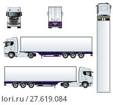 Купить «Vector truck template isolated on white», иллюстрация № 27619084 (c) Александр Володин / Фотобанк Лори