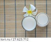Купить «Top view of Fresh Soy milk (Soya milk) in a glass», фото № 27623712, снято 21 февраля 2018 г. (c) PantherMedia / Фотобанк Лори