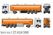 Купить «Vector realistic tunker truck template isolated on white», иллюстрация № 27624588 (c) Александр Володин / Фотобанк Лори