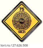 Купить «bright shiny element rare 75», иллюстрация № 27626508 (c) PantherMedia / Фотобанк Лори