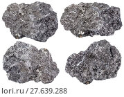 Купить «set of piece of graphite mineral stone isolated», фото № 27639288, снято 19 октября 2018 г. (c) PantherMedia / Фотобанк Лори