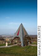 Купить «Pyramidal resting place on a clear winters day in the Rosalia region in Austria.», фото № 27639972, снято 17 октября 2018 г. (c) PantherMedia / Фотобанк Лори