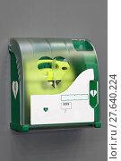 Купить «Automated External Defibrillator», фото № 27640224, снято 15 августа 2018 г. (c) PantherMedia / Фотобанк Лори
