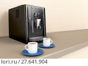 Купить «Espresso machine in the kitchen», фото № 27641904, снято 27 мая 2020 г. (c) PantherMedia / Фотобанк Лори
