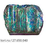 Купить «sample of iridescent pyrite mineral stone», фото № 27650040, снято 27 мая 2019 г. (c) PantherMedia / Фотобанк Лори