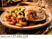 Купить «Delicious rustic roast slice menu», фото № 27656228, снято 21 сентября 2019 г. (c) PantherMedia / Фотобанк Лори
