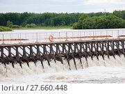Купить «Small dam on the river», фото № 27660448, снято 11 декабря 2018 г. (c) PantherMedia / Фотобанк Лори