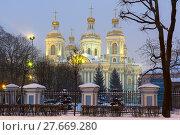 Купить «Никольский собор. Санкт-Петербург», эксклюзивное фото № 27669280, снято 4 февраля 2018 г. (c) Александр Щепин / Фотобанк Лори