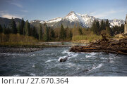 Купить «Whitehorse Mountain North Cascades Darrington WA Sauk River», фото № 27670364, снято 19 августа 2019 г. (c) PantherMedia / Фотобанк Лори