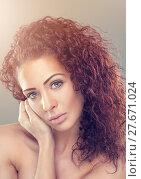 Купить «Beautiful woman with red curly hair», фото № 27671024, снято 22 марта 2019 г. (c) PantherMedia / Фотобанк Лори