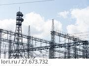 Купить «High Voltage Substation», фото № 27673732, снято 21 мая 2018 г. (c) PantherMedia / Фотобанк Лори