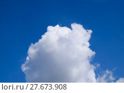 Купить «Bright midday blue sky with clouds», фото № 27673908, снято 18 августа 2019 г. (c) PantherMedia / Фотобанк Лори