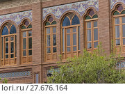 Купить «Building Wooden Windows With Colorful Glasses», фото № 27676164, снято 17 июня 2019 г. (c) PantherMedia / Фотобанк Лори