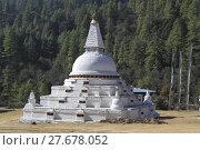 Купить «Chendebji Chorten, Bhutan», фото № 27678052, снято 14 декабря 2018 г. (c) PantherMedia / Фотобанк Лори