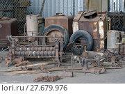 Купить «old tools of the goldmine of Leonora exposed for the tourists», фото № 27679976, снято 13 декабря 2018 г. (c) PantherMedia / Фотобанк Лори