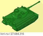 Купить «Tank isometric flat vector 3d», фото № 27684316, снято 26 мая 2018 г. (c) PantherMedia / Фотобанк Лори