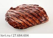 Купить «Thick succulent portion of barbecued flank steak», фото № 27684604, снято 19 марта 2019 г. (c) PantherMedia / Фотобанк Лори
